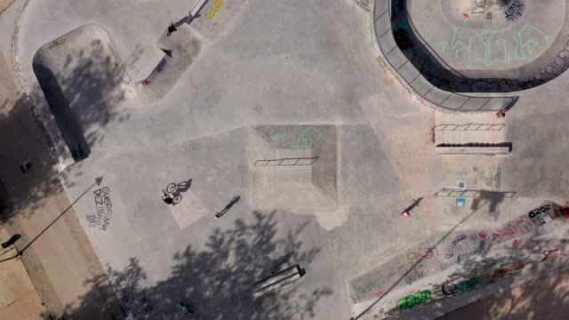skatepark from above, zoom out - portugal stock videos & royalty-free footage