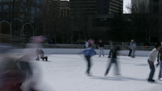 skaters at a busy ice rink - see other clips from this shoot 1145 stock videos & royalty-free footage