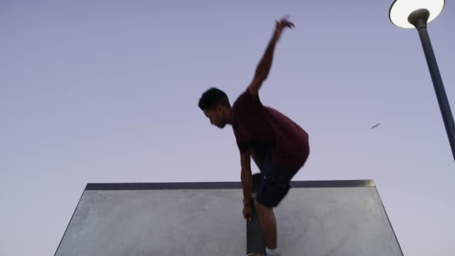 skating is putting passion into action - skateboard park stock videos & royalty-free footage