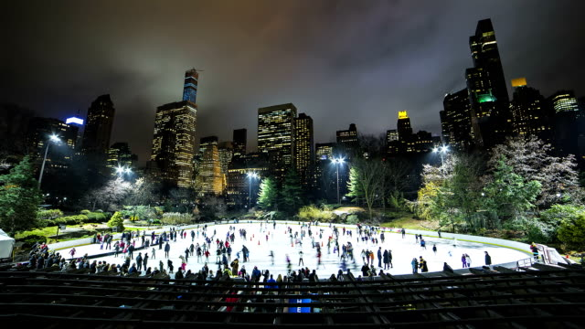nyc skating - central park manhattan stock videos & royalty-free footage