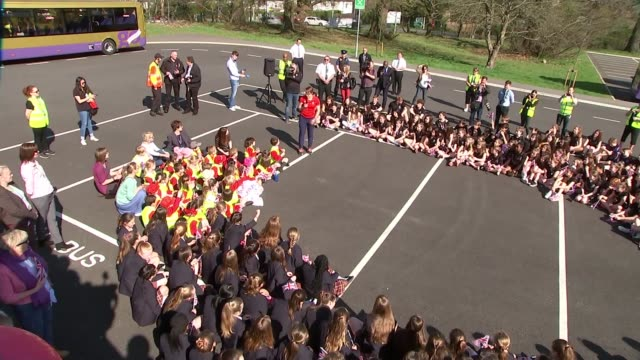 Skeleton racer Lizzy Yarnold returns to Sevenoaks after Winter Olympics Judith Yarnold and Clive Yarnold interview SOT CUTAWAY school children...