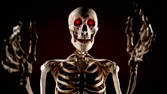 skeleton scares - puppet stock videos & royalty-free footage