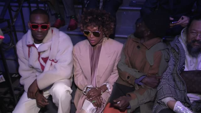 Skepta Naomi Campbell and more front row of the Louis Vuitton Menswear Fall Winter 2019 Fashion Show in Paris