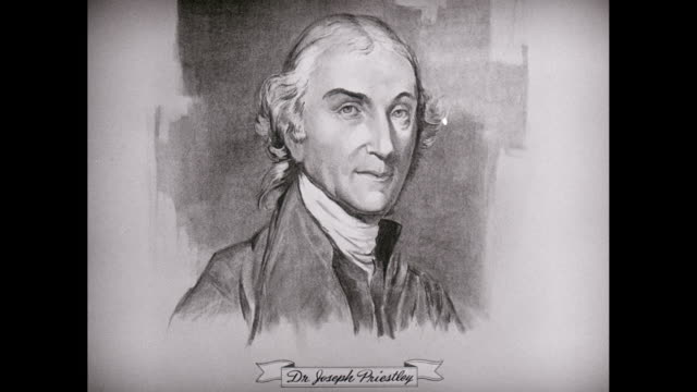 cu zi sketch of dr. joseph priestley / united states - philosopher stock videos & royalty-free footage