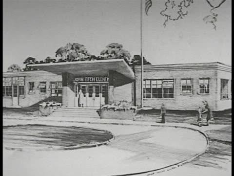 sketch of future john fitch school sketch of elementary or kindergarten school sketch of high school - levittown pennsylvania stock videos and b-roll footage