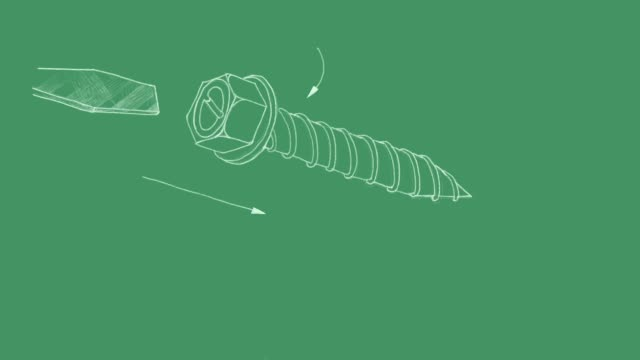 Sketch of Sheet Metal Screw Video Clip