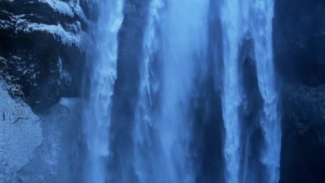 Skógafoss waterfall Iceland in Slow Motion