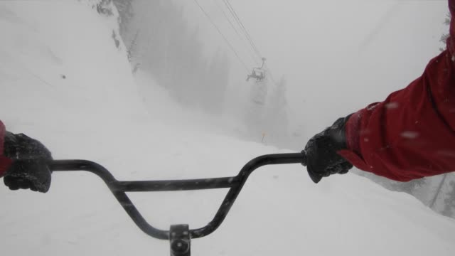 ski bike - handlebar stock videos & royalty-free footage