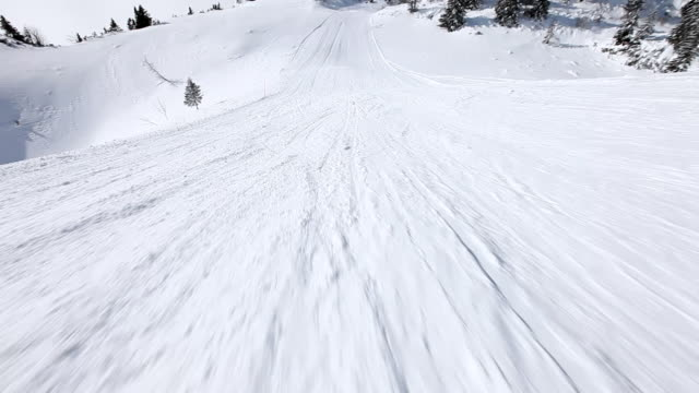 HD: Ski downhill on skis