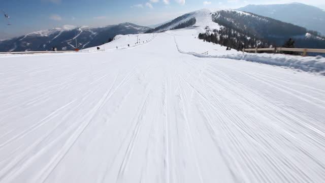 hd: ski downhill on skis - downhill skiing stock videos & royalty-free footage
