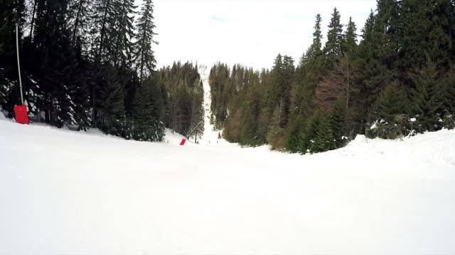 POV Ski downhill.