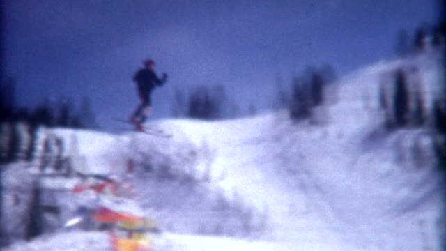 ski jump 1972 - archives stock videos & royalty-free footage