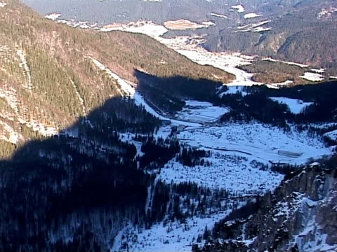 ski jump in planica by air - ski jumping stock videos and b-roll footage