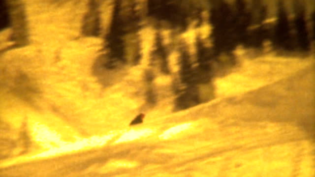 ski jump old school 1972 - ski jumping stock videos and b-roll footage
