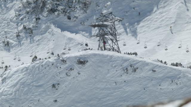 ski lift above innsbruck, austria - nordkette mountain stock videos and b-roll footage