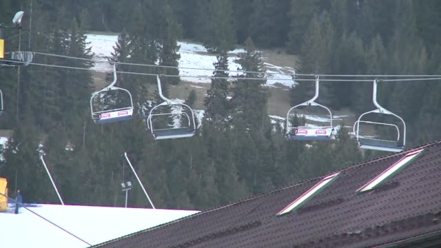 ski lift chairs in wind - gale stock videos & royalty-free footage