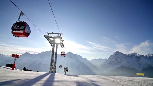 vídeos y material grabado en eventos de stock de teleskí de ancho - centro de esquí
