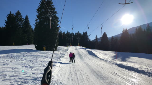 ski lift in lenzerheide, switzerland - ski lift stock videos & royalty-free footage