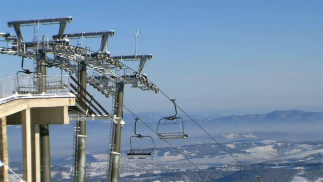 ski lift in the tatra mountains - winter sport stock videos & royalty-free footage