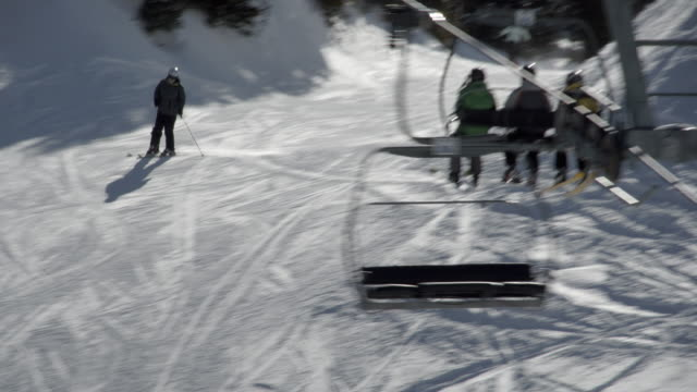 ski lift on a mountain / banff, canada - ski lift stock videos & royalty-free footage