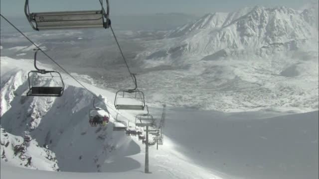 ski lift on kasprowy wierch mountain - ski lift stock videos & royalty-free footage