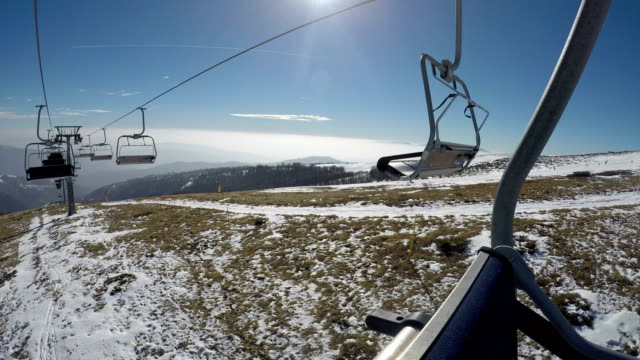 ski lift point of view - ski lift point of view stock videos & royalty-free footage