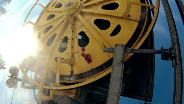 ski lift wheel close up - cog stock videos & royalty-free footage