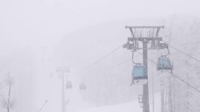 ski lifts - tourist resort stock videos & royalty-free footage