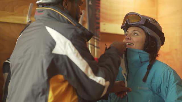 ski locker prep - skiing stock videos & royalty-free footage