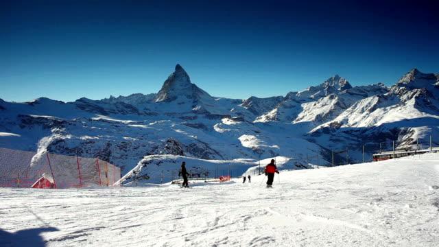 ski piste under Matterhorn
