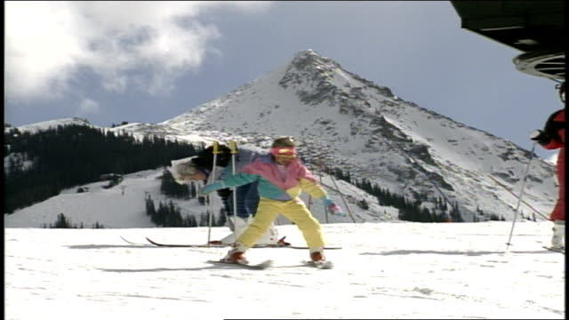 ski resort in butte montana - skiwear stock videos & royalty-free footage