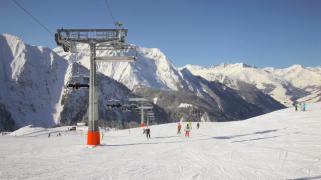 ski resort - alpine skiing stock videos & royalty-free footage