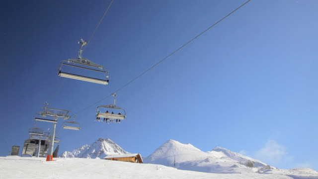 ski resort - ski lift stock videos & royalty-free footage
