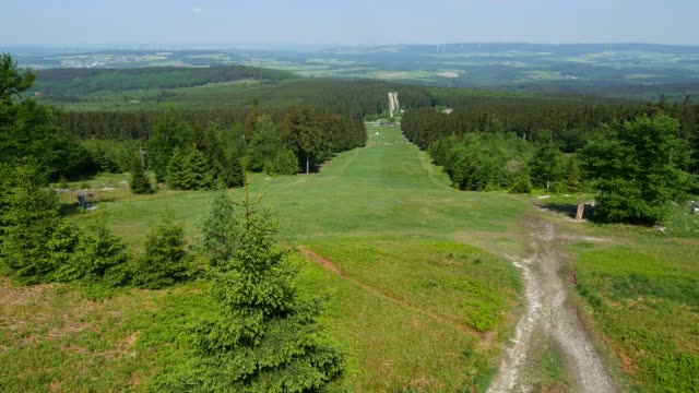 Ski run in summer at Mount Erbeskopf, Hunsruck, Rhineland-Palatinate, Germany, Europe