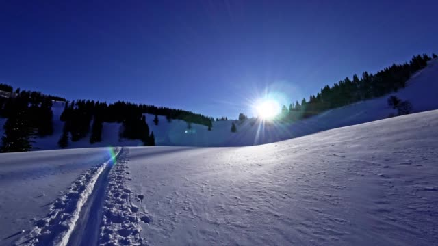 pov: ski touring in the austrian alps - moving image stock videos & royalty-free footage