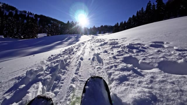 pov: skida att turnera i de österrikiska alperna - längd bildbanksvideor och videomaterial från bakom kulisserna