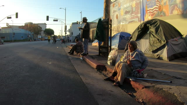 la skid row homeless - homelessness stock videos & royalty-free footage