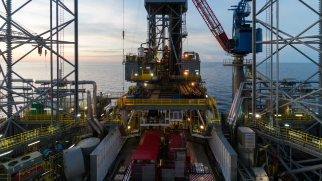 skidding oil rig operation time lapse - drilling rig stock videos and b-roll footage