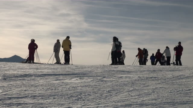 ms skier at mannlichen / grindelwald, bernese oberland, switzerland - ski clothing stock videos and b-roll footage