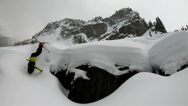 skier crashing in slow motion - crash stock videos & royalty-free footage