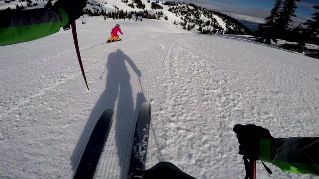 Skier POV follow cam