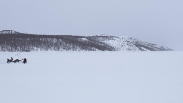 vidéos et rushes de ws skieur glisse et tombe la neige pourquoi skijoring - accident domestique