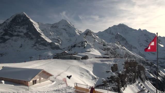WS Skiers at mannlichen / Grindelwald, Bernese Oberland, Switzerland