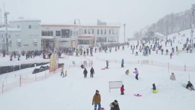 skiing and snowboarding - 秋田県点の映像素材/bロール
