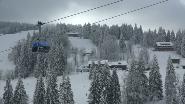 skiing area at feldberg pass, south black forest, schwarzwald, baden-wurttemberg, germany, europe - ski slope stock videos & royalty-free footage
