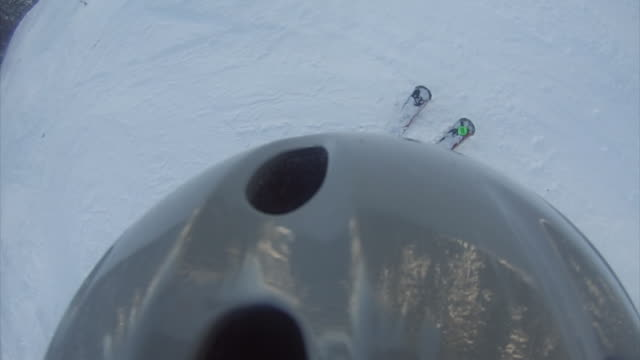 Skiing camera over the helmet