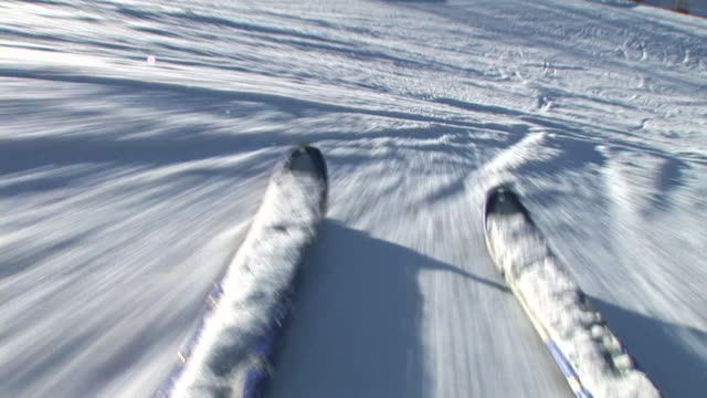 hd: skiing downhill - skiing stock videos & royalty-free footage