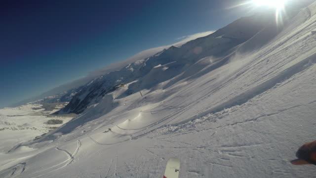 skiing in hochfuegen ski resort in zillertal, austria. no audio - 北チロル点の映像素材/bロール