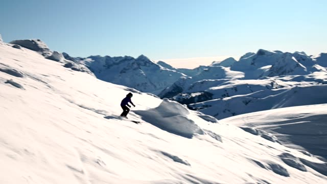 skiing on a sunny day - downhill skiing stock videos & royalty-free footage