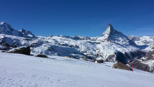 pov skiing on skis - downhill skiing stock videos & royalty-free footage